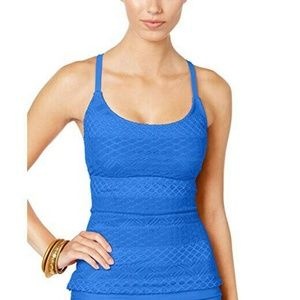 NWT Island Escape Blue Strappy Add a Size Tankini